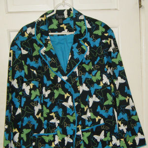 Black and Multi Colored Butterfly Jacket 3X